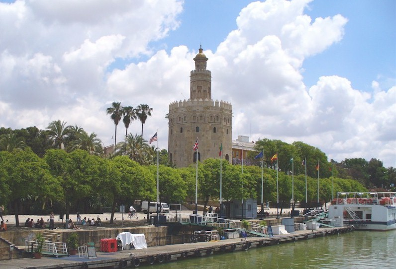View of the Torre del Oro from River Cruise Boat 2008